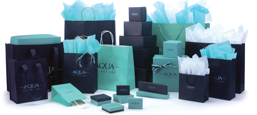 Coordinated Chocolate Aqua Amp Navy Packaging We Add