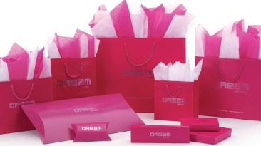 Coordinated hot pink packaging photo for emailing