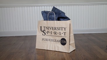 Custom Packaging, Twisted Paper Handle Shopping Bag: Purdue University