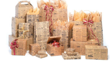Paper Shopping Bags: Newsprint Bags & Boxes