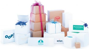 One piece gift boxes white & natural