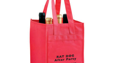 Vineyard Collection Non Woven Wine Bottle Bags: Four Bottle Bag