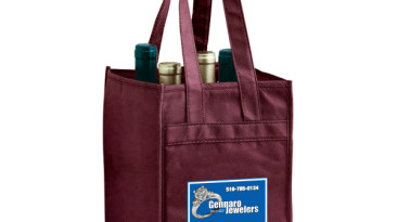 Vineyard Collelction: Non Woven Reusable Wine Bottle Bags: Four Bottle Bag