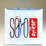 Custom Plastic Rigid Handle Bag: Levis