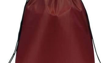 Drawstring Backpacks: E3500 Burgundy