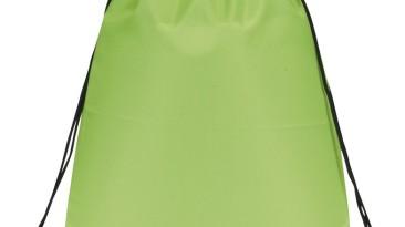 Drawstring Backpacks: E3500 Lime Green