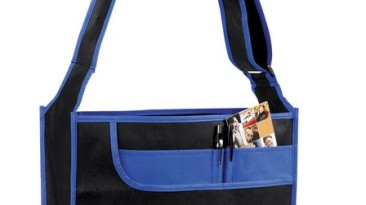 Non Woven Multi Pocket Messenger Tote Bag: EST1112RB
