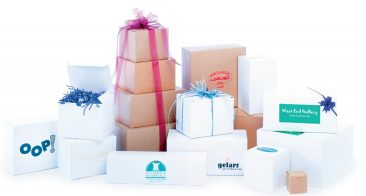 1 Piece Gift Boxes: Natural Kraft & White Gloss