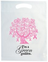 Plastic Bags: Die Cut Handle Cancer Awareness Bag: EAWTREE