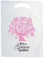 Plastic Bags: Die Cut Handle Cancer Awareness Bag: EAWTREE