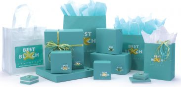 Coordinated light blue packaging photo for emailing