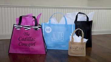 Custom Non Woven Shopping Bags: Cadillac Cowgirl, Jildor, Bead Cage
