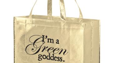 Metallic Gloss Designer Totes & Grocery Bags: ELM16612