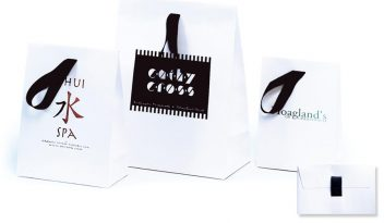 Ribbon Handle Shopping Bags: Matte Laminated Bags with Ribbon Handles