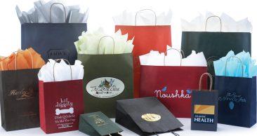 Paper Shopping Bag: Matte Colors on Natural Kraft
