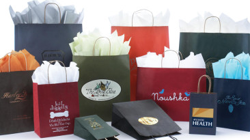 Paper Shopping Bag: Matte Colors on Natural Kraft
