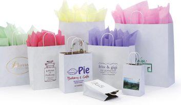 Paper Shopping Bags: Natural-Kraft-Interiors-White-Kraft-Exteriors