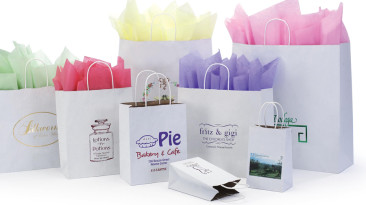 Paper Shopping Bags: Natural-Kraft-Interiors-White-Kraft-Exteriors