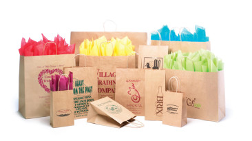 Paper Shopping Bags: Natural Kraft Shopping Bags
