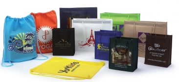 Non Woven Backpack and Assorted Shopping Bags