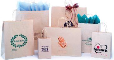 Paper Shopping Bags: Oatmeal Paper Shopping Bag