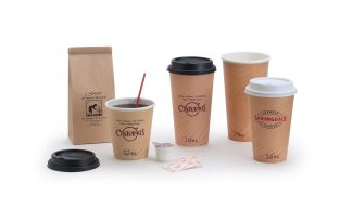 Paper Cups: Tan Insulated Hot Paper Cups
