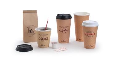 Paper Cups: Tan Insulated Hot Paper Cups