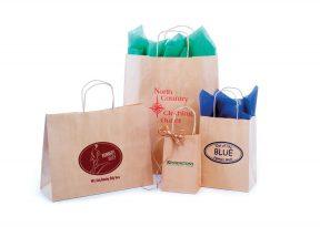 Paper Shopping Bags: Textured Natural Kraft Shopping Bags