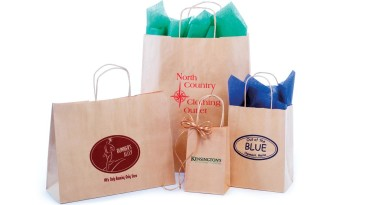 Paper Shopping Bags: Textured Natural Kraft Shopping Bags