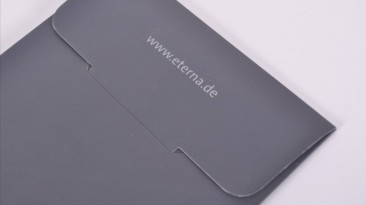Tie Folder: Custom Tie Bag / Folder: Eterna