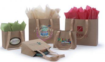 Urban Kraft Shopping Bags with Tan Non Woven Shoulder Length Handles