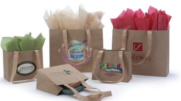 Urban Kraft Shopping Bags with Tan Non Woven Shoulder Length Handles