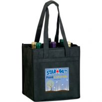 Vineyard Collelction: Non Woven Reusable Wine Bottle Bags: Six Bottle Bag