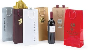 Wine Bottle Bags Euro-totes with Rope Handles