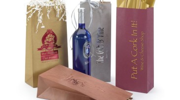 Wine Bottle Bags Matte Kraft Tints with Twisted Paper Handles