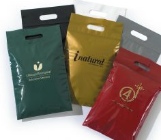 Plastic Bags: Bags with Die-Cut Handles & Zip Lock Closure
