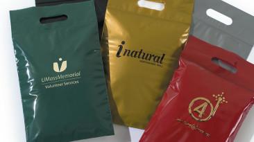 Plastic Bags: Bags with Die-Cut Handles & Zip Lock Closure