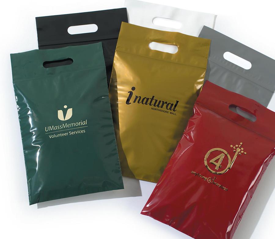 Plastic Bags Bags With Die Cut Handles Amp Zip Lock Closure