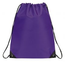 Drawstring Backpack: E3500 Purple
