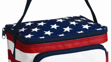 Insulated Coolers 600 Denier: Stars & Stripes 6 Can Cooler/Lunch Bag