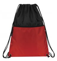 Drawstring Backpacks: EZBP041007RD