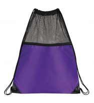 Mesh Drawstring Backpacks: EDS1221PL