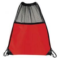 Mesh Drawstring Backpacks: EDS1221RD