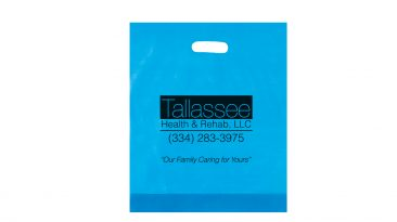 Frosted Die Cut Handle Bags Hot Stamped #EP19FD12153HS