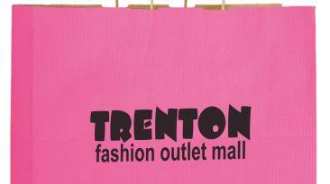 Vogue Paper Shopping Bags Natural Kraft Mirage Stripe Silk Screen #EP4M16613