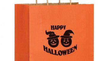 Halloween Paper Shopping Bags Pumpkins #EP4M10513P