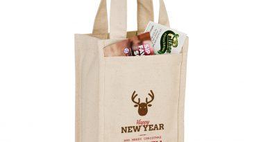 14 Oz Cotton Canvas Wine Bottle Bags/ Holds 2 bottles #EPCVINE2