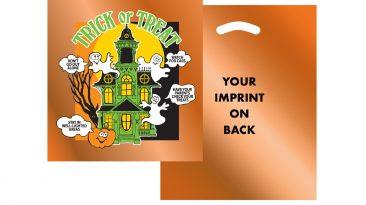 Halloween Metallic Non Reinforced Die Cut Handle Bags #EP13OH1215