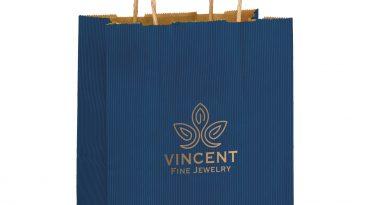 Cub Paper Shopping Bags Natural Kraft Mirage Stripe #EP4M8410