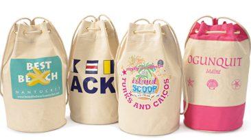 Canvas Rope Handle Backpack Duffle Bag